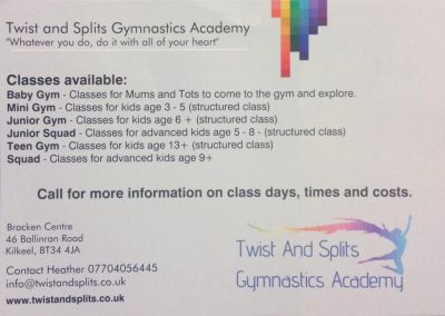 Details of our Classes